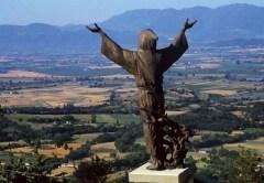 Wiki Loves Valle del Primo Presepe -Statu san Francesco a Poggio Bustone