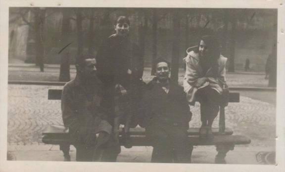 Fernando de Szyszlo, Michelle Deladrier, Octavio Paz y BLANCA  paris 1950. autor desconocido archivo blanca varela