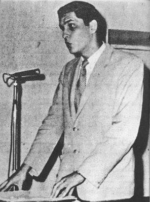 El poeta Javier Heraud.