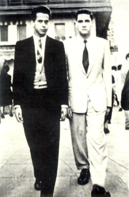 (Izq. a der.) Los poetas César Calvo y Javier Heraud