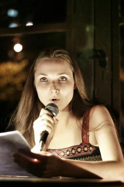 La poeta Natalia Litvinova. Crédito de la foto Marco Zanger.