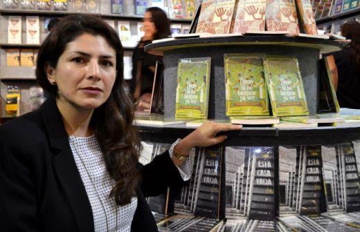 Nataly Villena. Seleccionadora de la muestra de narrativa peruana.