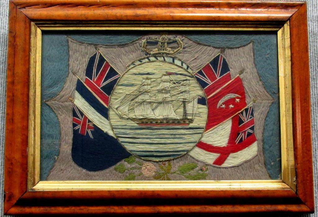 british maritime woolie - historic embriodery