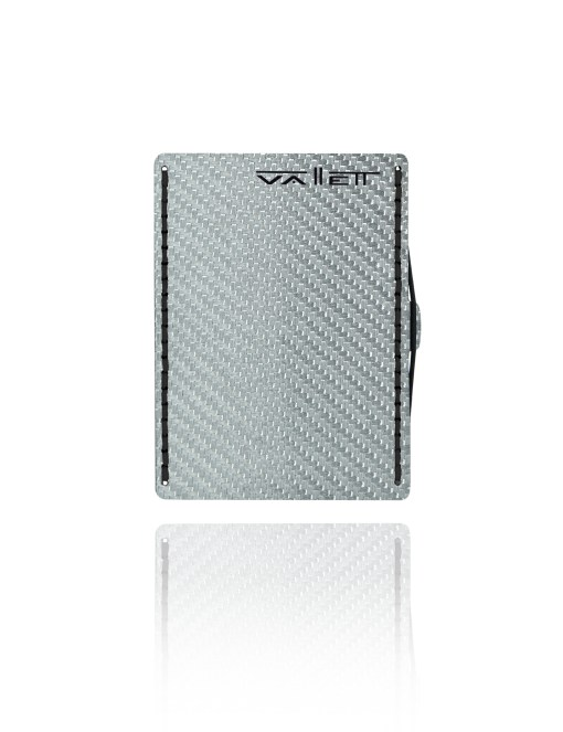 Vallett Carbon Fiber Wallet - Black Stitching
