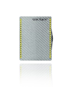Vallett Carbon Fiber Wallet - Yellow Stitching