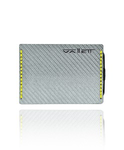 Vallett Carbon Fiber Wallet Small - Yellow Stitching