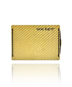 Gold Carbon Fiber Wallet