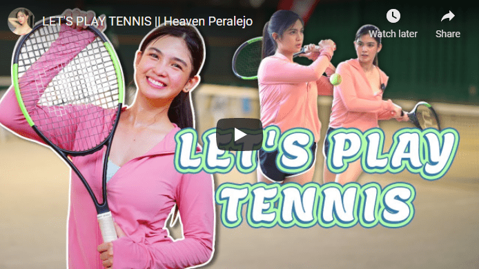 Let's Play Tennis by Heaven Paralejo