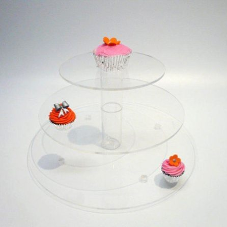 3 Tier Perspex Cup Cake Stand