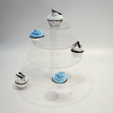 5 Tier Perspex Cup Cake Stand