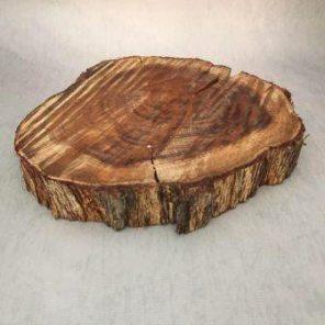 Wood round cake stand