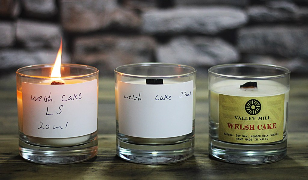 Soy wax Candle testing