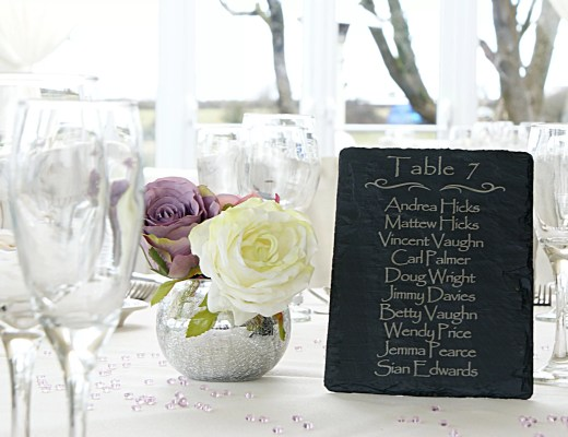 Welsh Slate Wedding Table Planner