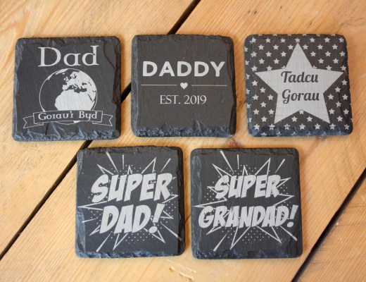Handmade Welsh Slate Father's Day Gifts