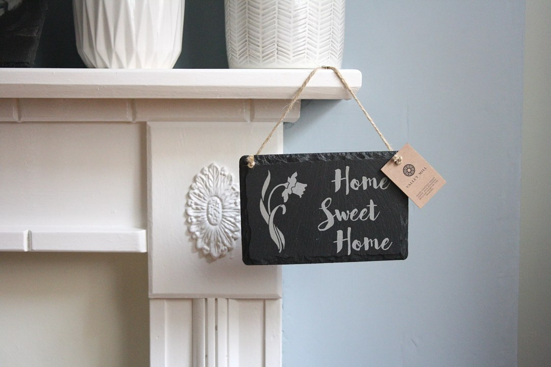 Welsh Slate 'Home Sweet Home' hanging sign