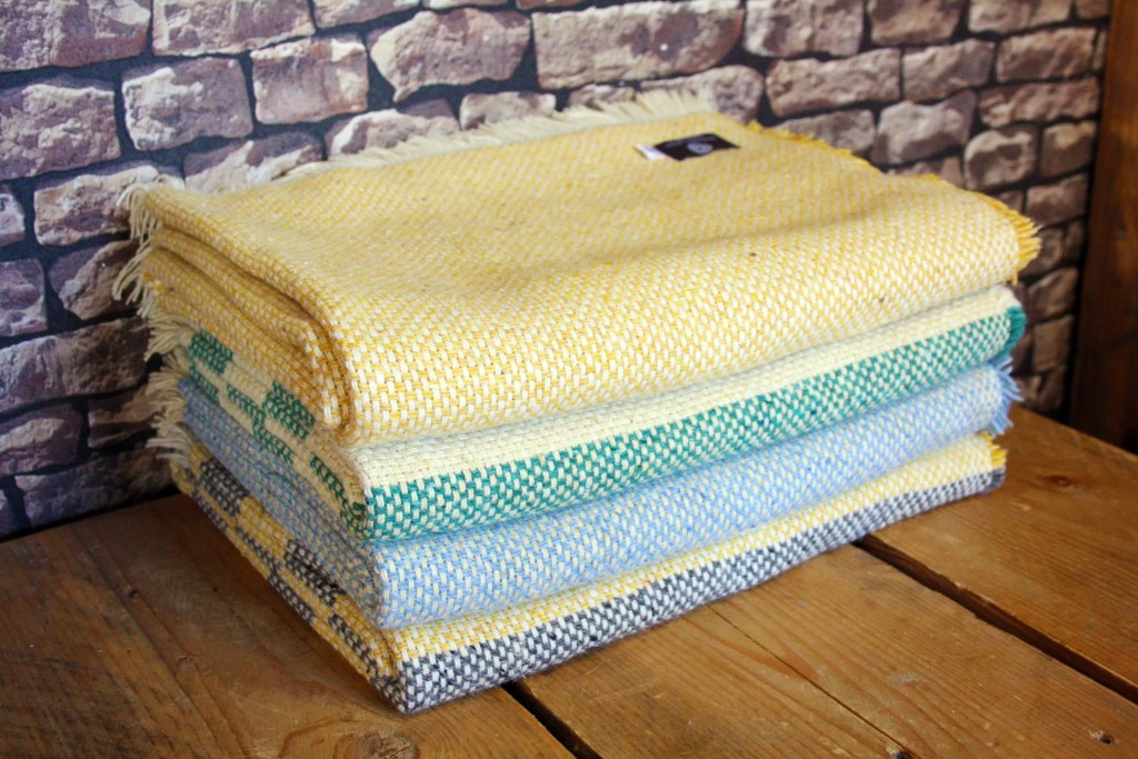 Recycled Wool/Cotton Blend Blankets