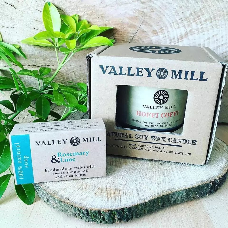 Wood wick candles and natural soap