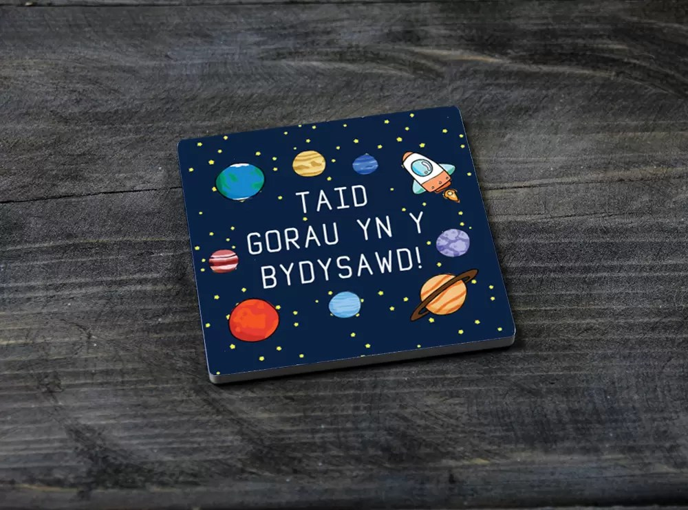 Best Grandad in the Universe Welshsquare ceramic Father's day coaster