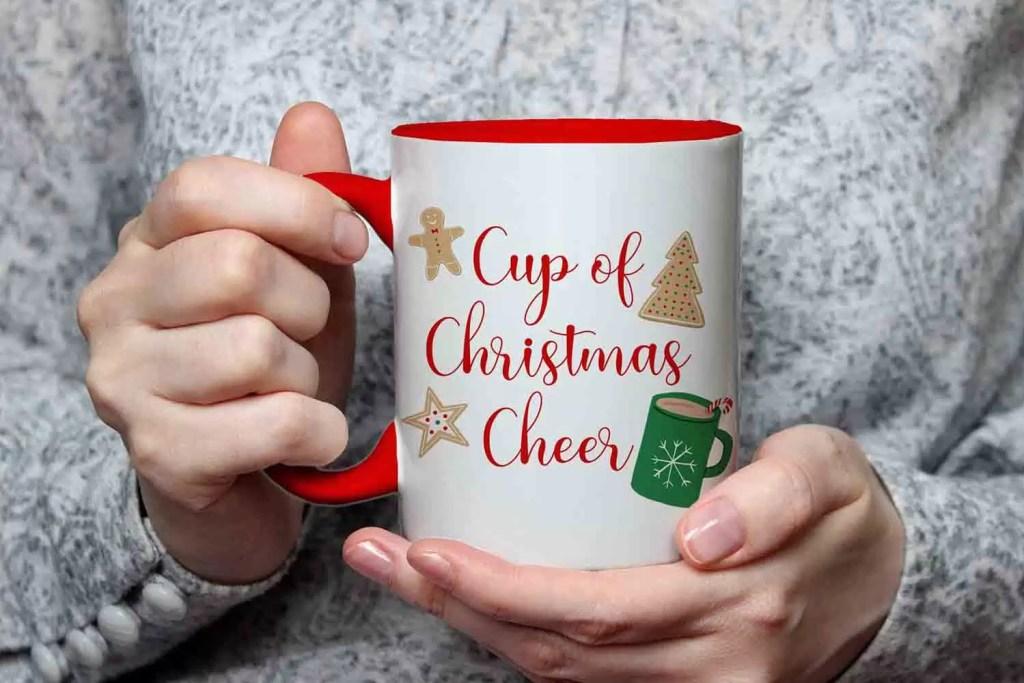 Red Cup Of Christmas Cheer Ceramic Christmas Mug