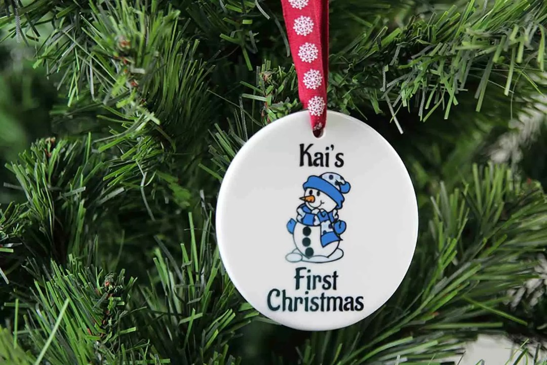 Personalised Baby's First Christmas Ceramic Christmas Tree Decoration