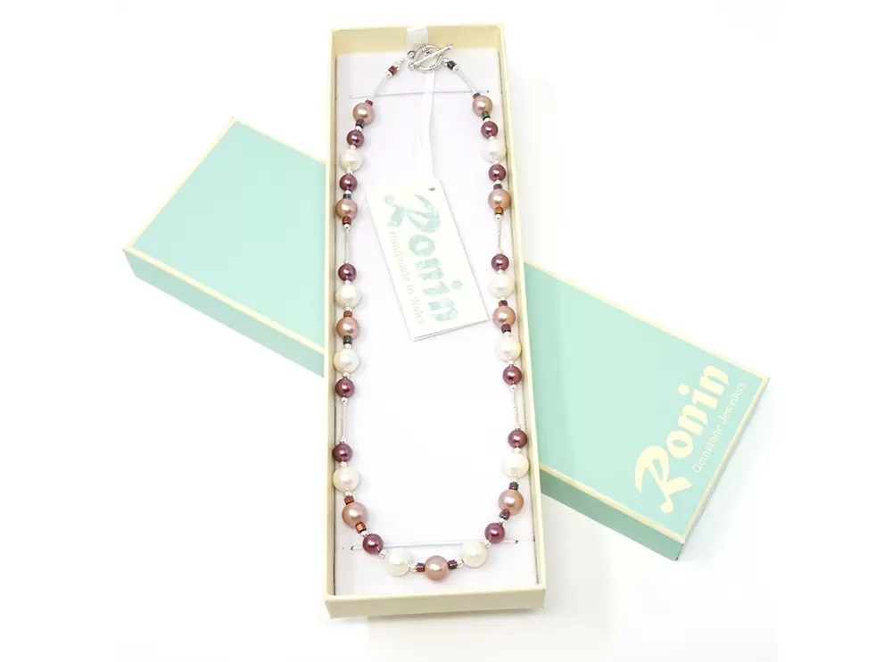 Ronin Orchid Gemstone Necklace