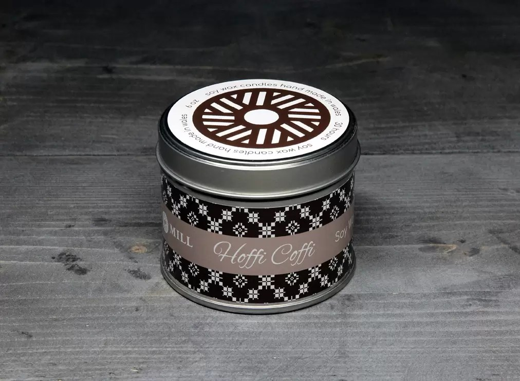 Gift your caravanner Dad a Hoffi Coffi candle handmade in Wales at Valley Mill HQ