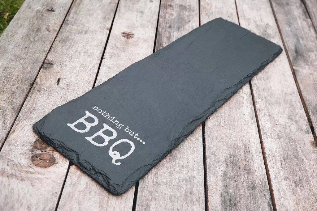 Top BBQ tips from Nothing but BBQ personalised Welsh Slate tray
