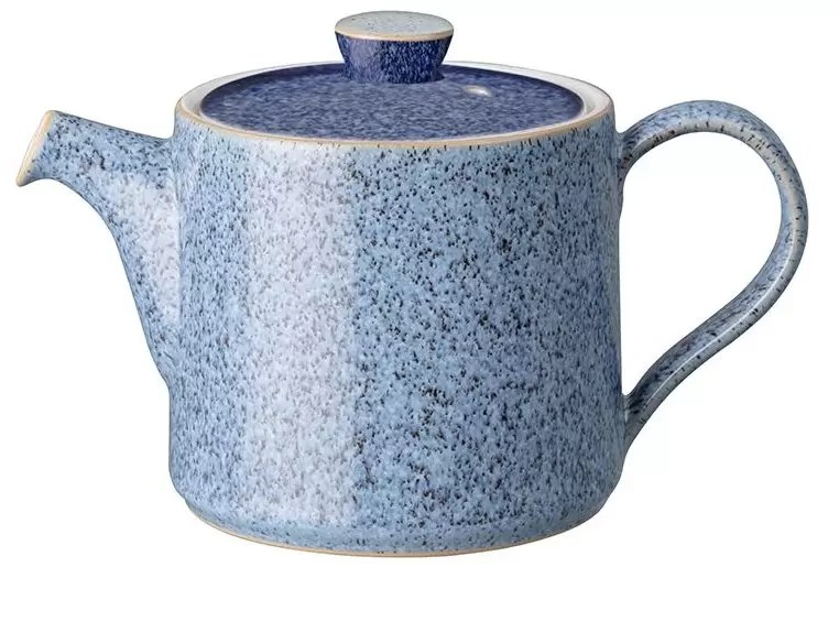 small blue teapot from Denb which holds two cups of tea