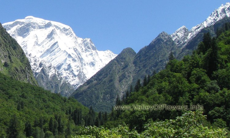 Hathi Peak seen from Bhyandar village. Trek to Kagbhusandi Lake goes towards this peak.
