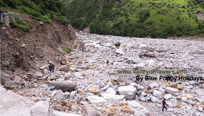 Bhyundar village is completely washed off.