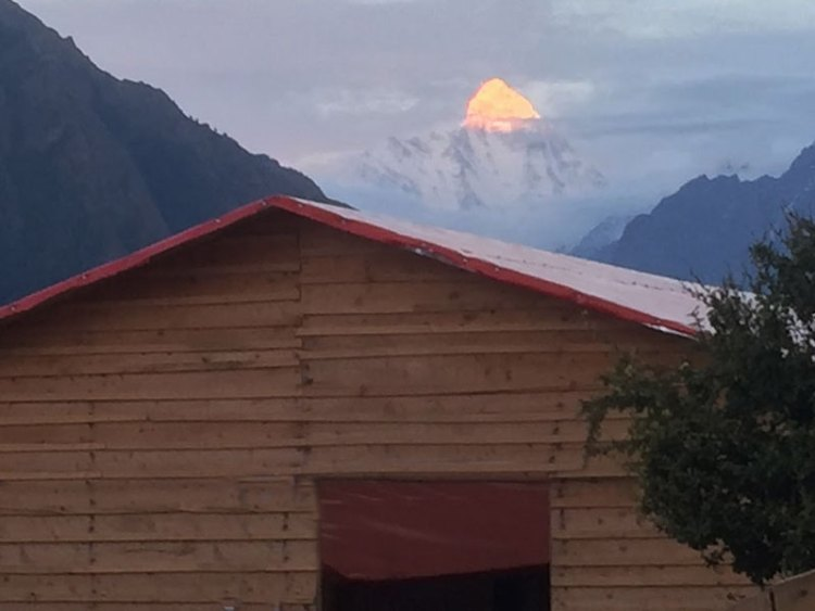 this is one of the pic of blue poppy hut..in this person will stay with complete services.. Nandadevi peak is seen in the background