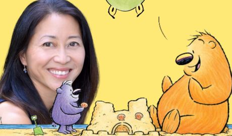 Graphic showing Anna Kang and some of the characters she writes about. Illustrations by her husband, Christopher Weyant. Graphic: Valley of Writers