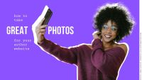 How can I take a great author picture for my website or book cover using my phone?