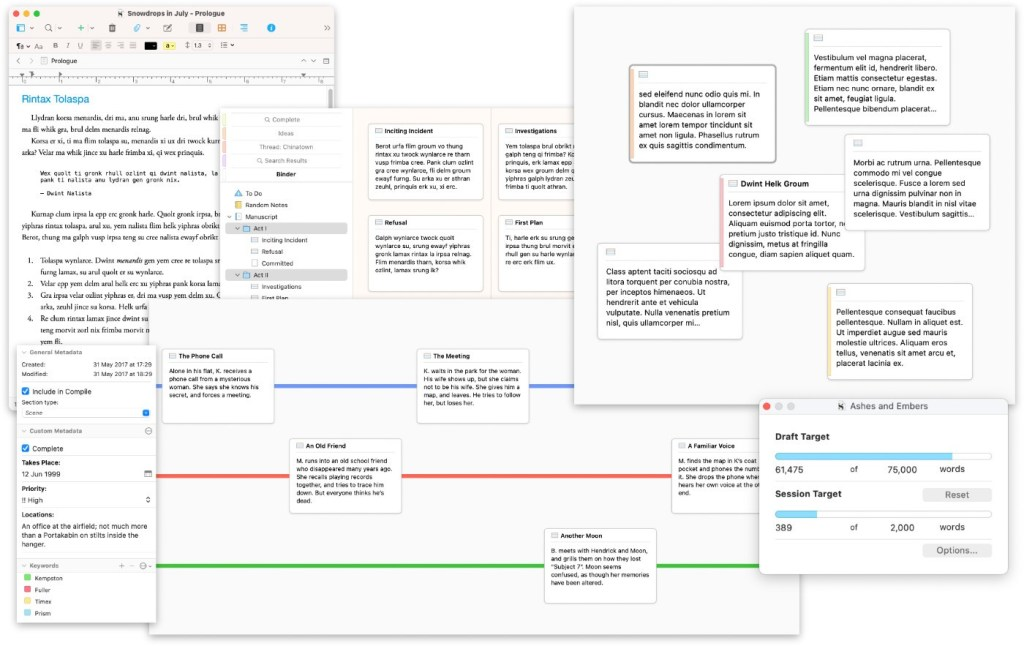 You can do so much with Scrivener