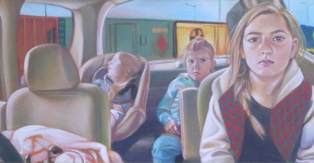 Prairie Schooner - painting by Erica Navarrete