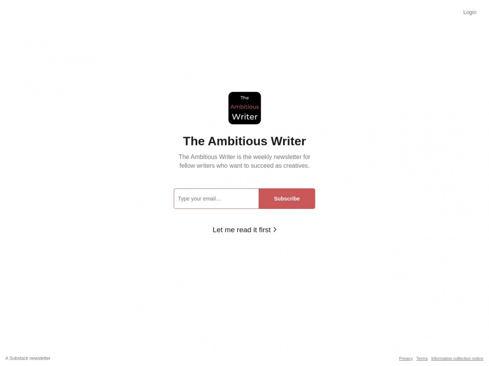 https://theambitiouswriter.substack.com/