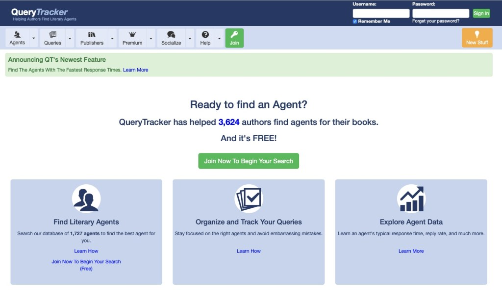 QueryTracker Home Page