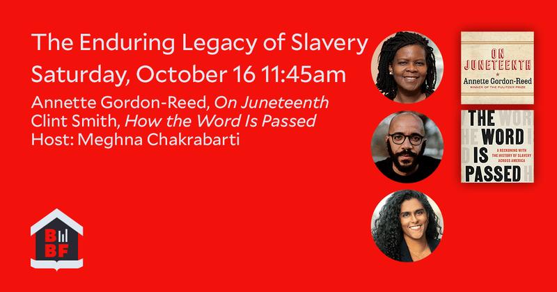 Boston Book Festival: The Enduring Legacy of Slavery