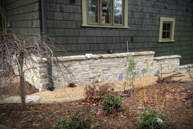 WNC Granite Stone Veneer for a house foundation