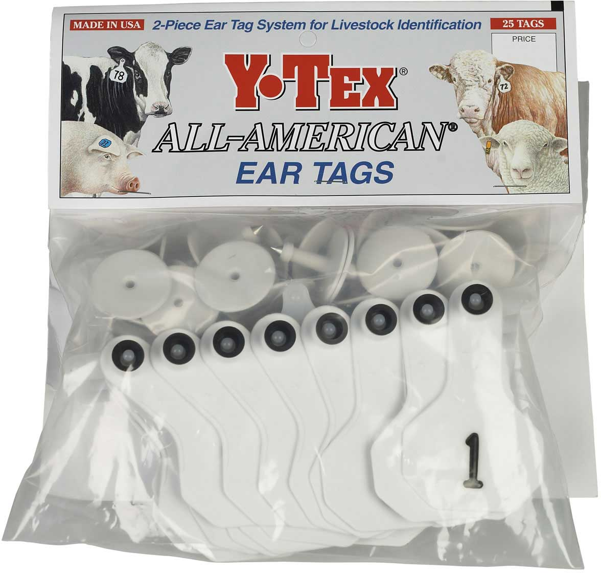 Numbered Small Cattle Id Ear Tags Y Tex