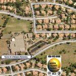 Aerial view of Kyrene de la Mariposa Elementary School, Warner Park, and Hanger Park in Warner Ranch Tempe