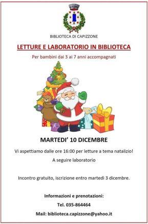 Letture e laboratorio in biblioteca - Capizzone