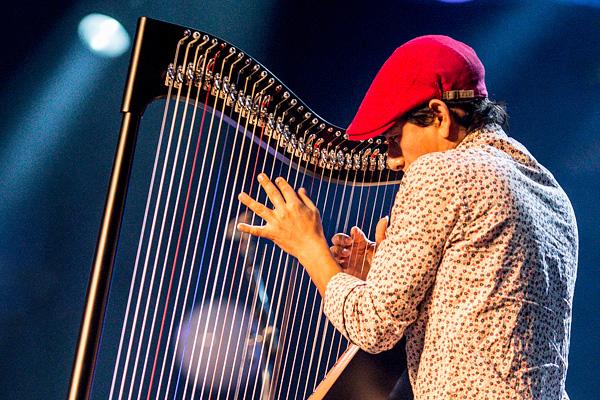 Edmar Castañeda soittaa jazzissa harvinaista harppua.
