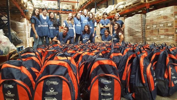 Programa de Alimento para Todos, backpack