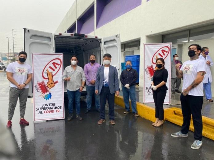 KIA Motors dona despensas al sector salud en Nuevo León