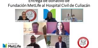 Fundación MetLife México entrega donativo por 1.1 MDP al Hospital Civil de Culiacán