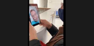 Pacientes con COVID-19 conectan con su familia a través de la red de AT&T