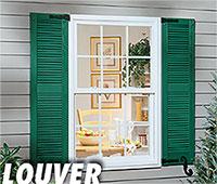Valor louver vinyl shutters