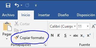 Copiar Formato - Función de Word