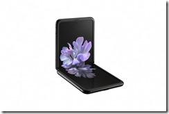 galaxy z flip_mirror black_left table top
